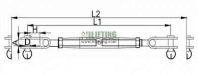 Stainless Steel Toggle and Toggle Terminal European Type Turnbuckle Sketch