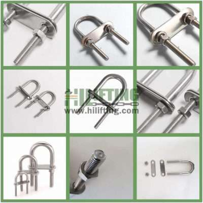 Stainless Steel U Bolt Oversized Head Details