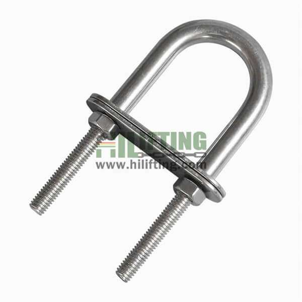Stainless Steel U Bolt With Two Plates and Nuts