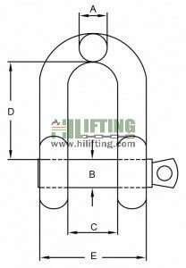 Stainless Steel US Type Chain Shackle G210 Sketch