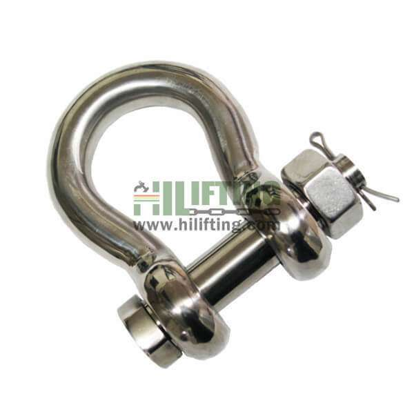 Stainless Steel US Type Safety Pin Bow Shackle G-2130