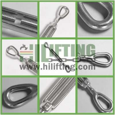 Stainless Steel US Type Turnbuckle Eye and Eye Details