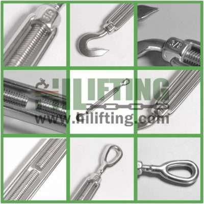 Stainless Steel US Type Turnbuckle Eye and Hook Details