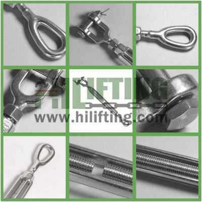 Stainless Steel US Type Turnbuckle Eye and Jaw Details