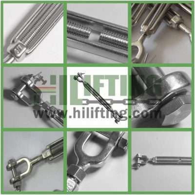 Stainless Steel US Type Turnbuckle Jaw and Jaw Details