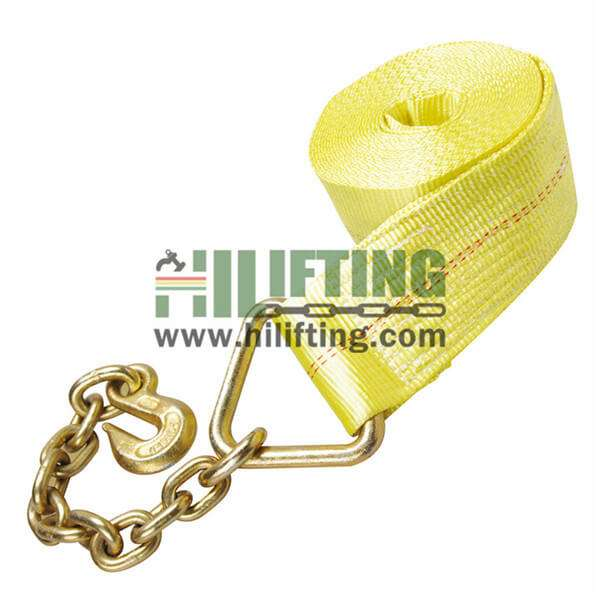 Tow Strap With Chain Lead Anchor and Hook