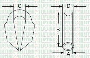 Tube Rope Thimble Sketch