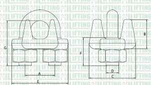 Type A Malleable Wire Rope Clip Sketch
