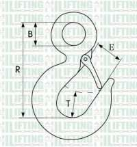 US Type Eye Hoist Hooks 320 Sketch