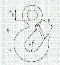 US Type Eye Hoist Hooks 320 Sketch