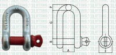 US Type Screw Pin Chain Shackle Sketch
