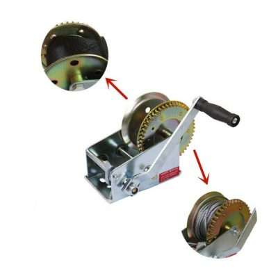 Boat Gear Hand Winch Without Rope or Belt