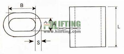 Copper Oval Sleeves Wire Rope Ferrule Sketch
