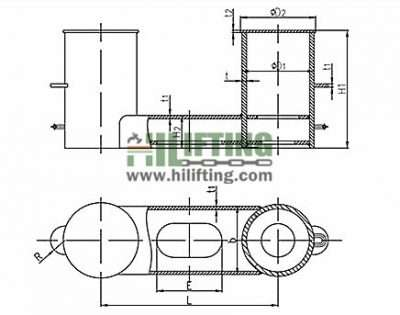 Double Bollard ISO 13795 Type A Sketch