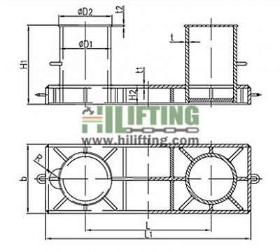 Double Bollard ISO 13795 Type B Sketch