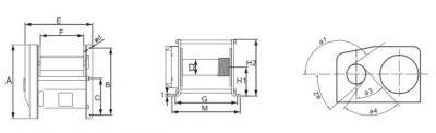 Electric Winch EWA Type Sketch