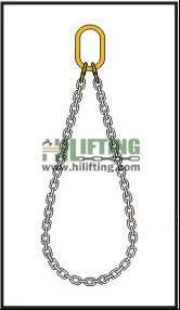 Endless single chain sling with master link