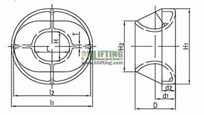 ISO 13729 Chock Type B Sketch