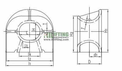 ISO 13729 Chock Type C Sketch