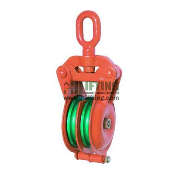 Marine Double Sheave Snatch Block With Swivel Eye