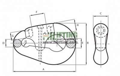 Pear Link Shackle Sketch