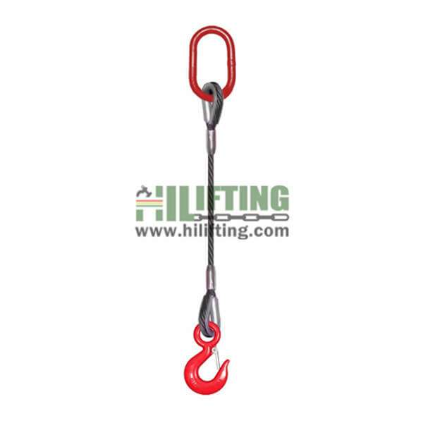 Single Leg Wire Rope Sling
