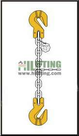 Single chain sling with cradle clevis grab hook each end