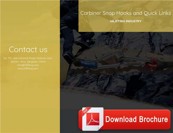 Carbiner Snap Hooks and Quick Links Download