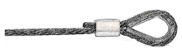 Wire rope thimble with ferrule crimp